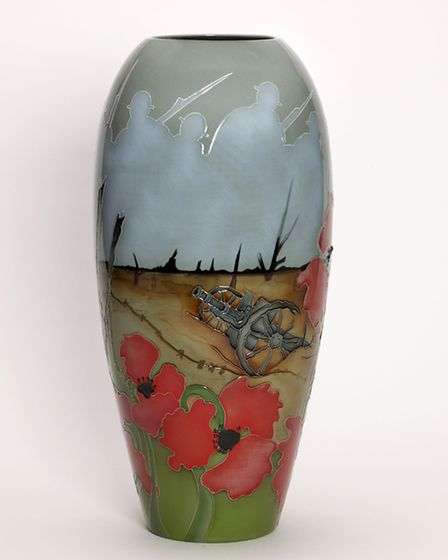 Lest We Forget is a Moorcroft design from The Collection of Remembrance to offer respect and venerat