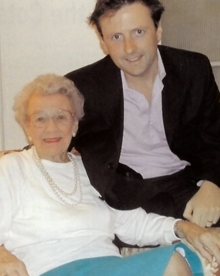 Mark with Rosalind Buckland, in 2005