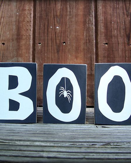 BOO! Creepily cute wooden blocks, hand-finished and hand-painted onto solid pine. All you need now