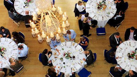 Guest sit down to lunch in the Pittville Pump Room