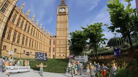 Pro-EU campaigners have earned their place in a 'Mini-Europe' theme park. Photograph: Mini-Europe.co