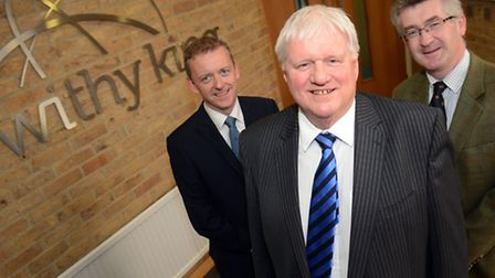 Edward Pilling (centre) with Withy King partners Tom Gilman (left) and Andrew Chalk (right) /Pictu