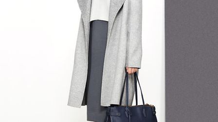 The relaxed tailoring of this Jaeger coat works equally well with workwear and off-duty denim