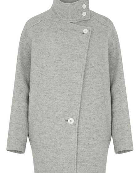 This Iro Chloane Grey Linen Blend Coat, £630 from Harvey Nichols is the perfect solution to winter