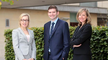 Newly promoted staff at BPE (l-r) Elizabeth Saunders, partner, Douglas Armstrong, associate solicito