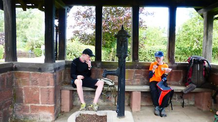 A pit-stop by the pump at Aldersley Green