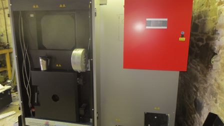 An Equal T boiler near completion with computer control system fitted