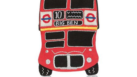 Red bus pass holder