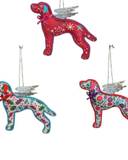 Not Just For Christmas These fabric dog decorations are so gorgeous you wont want to limit them to
