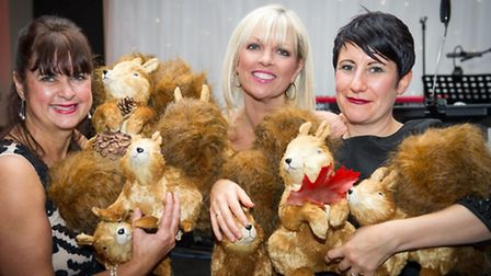 Sally Laffan, Becky Want and Natalie James with lots of squirrels!