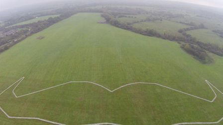 Southampton airport creates the world's biggest Mo on the ground. The 250m wide Mo will be visible