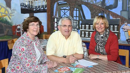 Hearts of Northwich community festival organisers, Angela and Gordon Atkinson with Vicar, Revd. Alis