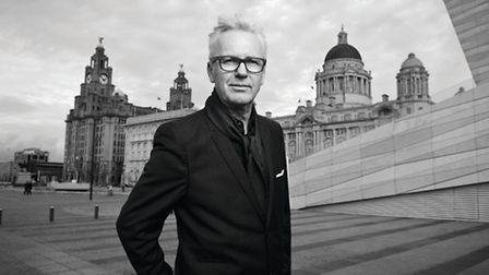Award-winning hairdresser Andrew Collinge in his home city of Liverpool where the Celebration of Sty