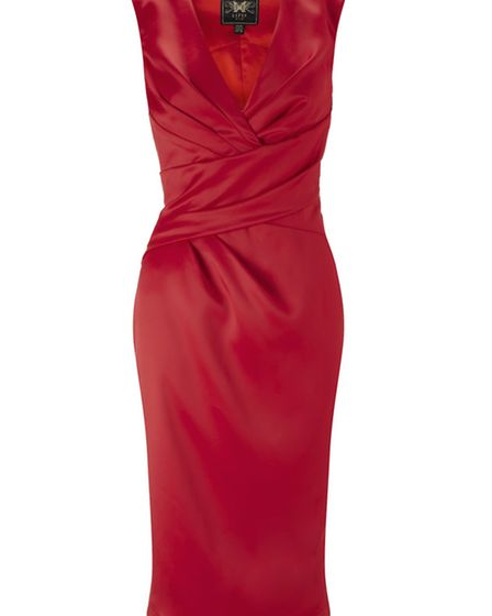 CON ARTIST Play up your Kardashian-style kurves in this silk body kon, £85 from Lipsy