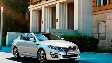 The Optima, likely to have others in this highly competitive class asking how Kia do it for the mone