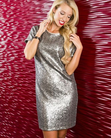 Silver Sparkle dress from the Paul by Paul Smith collection at Flannels, £250; Brook extreme point c