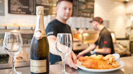 Even the chip shop sells champagne: