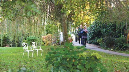 Visitors can stroll the relaxed grounds