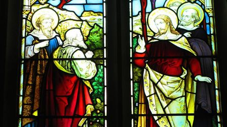 Victorian stained glass at St Cecelia, Little Hadham