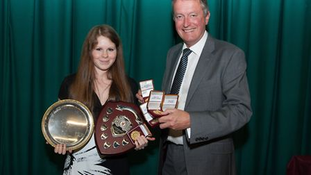 Chantel de Bruin with Tim Lowe, Chair of Governors