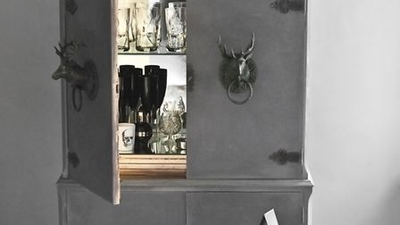 One of the classy cocktail cabinets available from Guildford-based business, Sassy Hardwick (sassyha