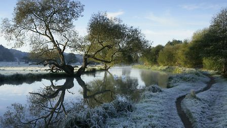 River Wey towpath, by John Miller / National Trust