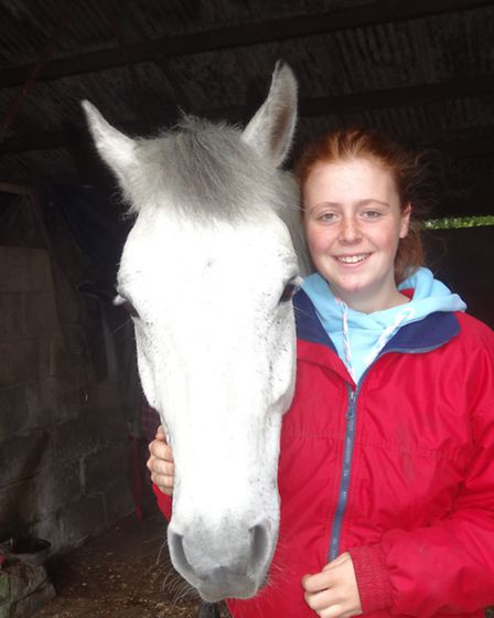 Katie and her pony, Alfie, who like nothing better than a ride around Barossa in Camberley