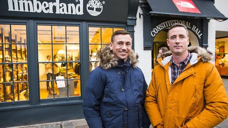 Surrey retail gurus Luke Underhill and James Pascoe outside their new lifestyle store
