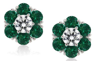 ENVIOUS MUCH? Your friends will completely Hulk out over these Carat green flower earrings, £106 at