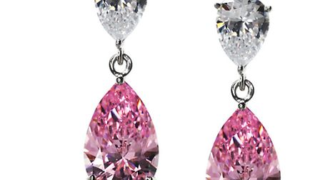A PERFECT PEAR Youll feel so sweet in these delightful Carat pink pear drop earrings, £113 at House
