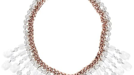 FRINGE BENEFITS Look bang up to date in this Lola Rose Hepburn gold tone fringed necklace, £250 fro