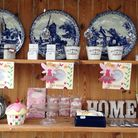 A pretty display at the tea rooms