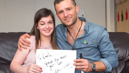 Emily meets Harry Judd at The Childrens Trust