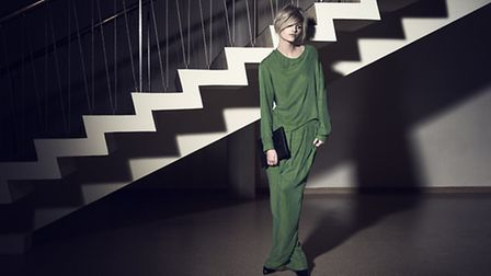 Go green. Its one of the fabulous jewel like colours that will be brightening up winter. Top, £179 a