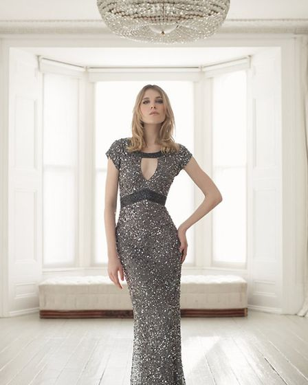 Sparkle in this sumptuous gown by Gina Bacconi, £340