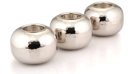 Give your home a warm and cosy look at Christmas with these gorgeous tea light holders. £10 availab