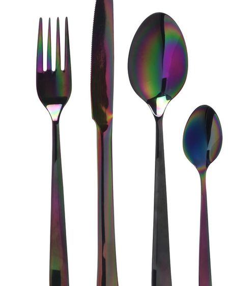 Eye-catching and beautiful, we love this PAT Rainbow 24 piece cutlery set. £180.00 at House of Frase
