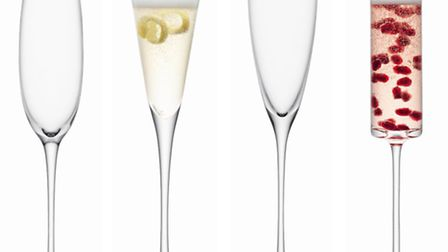 We love these Lulu champagne flutes, each in a different coordinating design, they come presented in
