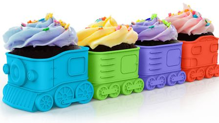 All aboard the cupcake express! These silicone moulds are perfect for parties and can also be used f