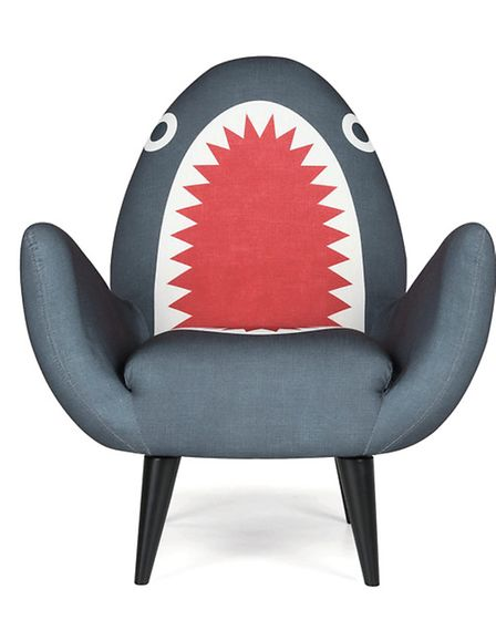 The Rodnik Shark Fin Chair is an entertaining and fun addition to any play room. £449 available from