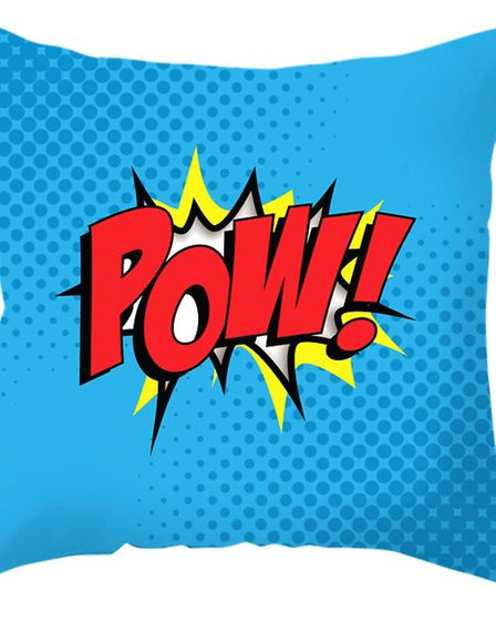 POW! Comic style cushion, a must for all superheroes rooms, £22 www.artylicious.co.uk