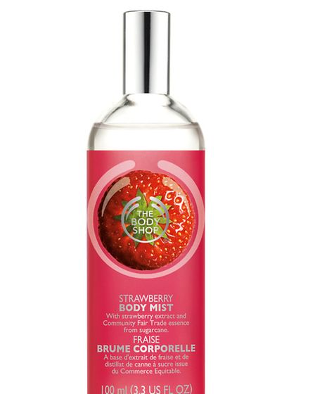 Smells almost good enough to eat, we love this strawberry scented body mist by The Body Shop. Priced