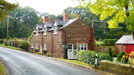 A traditional home built in Cheshires trademark red sandstone