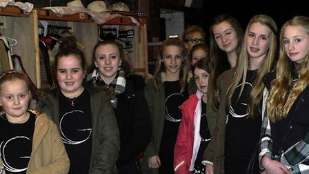 GAPA pupils backstage in the costume department at the Dominion.