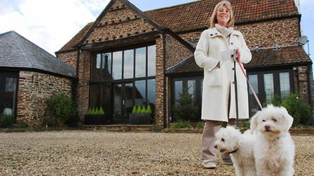 Author Susan Lewis at her Bagington home with dogs Coco and Lulabelle