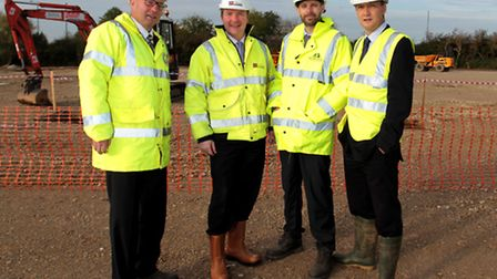 New MOOG building site, Tewkesbury. Landowners and property agents dealing with the sale - On the si