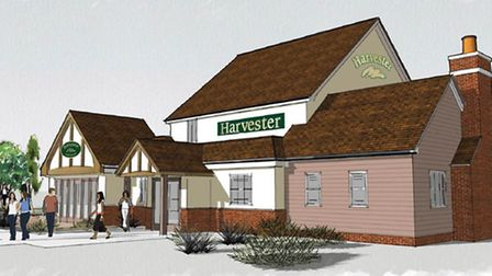 Harvester restaurant which will total 6,000 sq