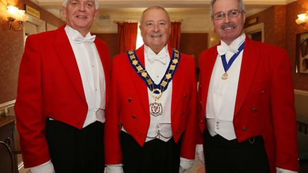 Bob Williams, William Sheldon (President of the Northern Guild of Toastmasters) and Alan Calow