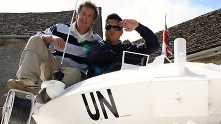 Allan Mustoe with Dom Joly