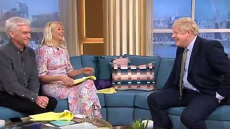 Boris Johnson squirmed when probed about his family life on ITV's This Morning. Picture: ITV